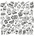 Fast food - doodles vector
