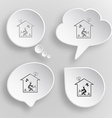 Home inspiration white flat buttons on gray vector