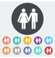 Couple sign vector