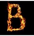Fire alphabet letter vector