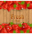Fresh strawberries on a wooden texture for your vector