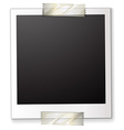 A polaroid attached to a piece of paper vector