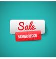 Sale 3d banner tag sales labels concept vector