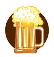 Of beervector color symbol of illustration f vector