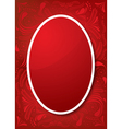 Easter greeting card with red egg and ornament vector