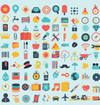 Shopping web design icons vector
