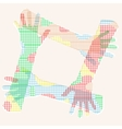 Multicolored hand friendship vector