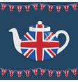 Union jack teapot vector