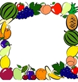 Fruits frame vector