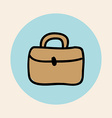 Briefcase design vector