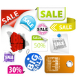 Set of colorful discount elements vector