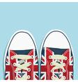 Uk shoes vector