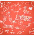 Happy valentines day elements seamless background vector