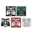 Wild birds in celtic ornament style vector