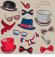 Set hipster accessories vector