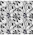 Doodle hand drawn abstract black and white vector