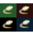 Rugby and american football emblem vector
