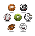 Cartoon funny balls characters vector