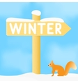 Sign with the inscription winter vector