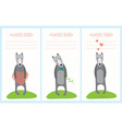 Romantic greeting card with cute dogs vector