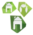 Collection of paper icons on polygonal triangular vector