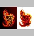 Fire flames tattoo vector
