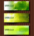 Eco set of headers with four different style vector