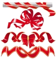Set red ribbon and one knot vector