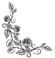 Rose leaves flower vector