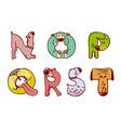 Dogs alphabet vector