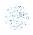 Doodles business icons vector