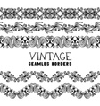 Vintage semless borders isolated on white vector