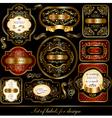 Set of black-golden elegance labels vector