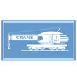 Rail crane vector