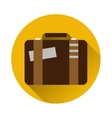 Vintage travel suitcases flat icon with long vector