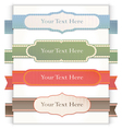 Set of retro ribbons and labels vector