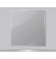 Transparent glass framework vector