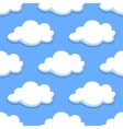 Sky seamless pattern with white clouds vector