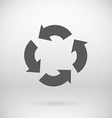 Flat recycle sign arrows symbol background vector