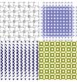 Set of 4 monochrome elegant patterns ornaments may vector