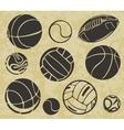 Sports balls - set vector