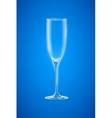 Empty champagne glass vector