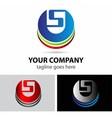 Elegant alphabet symbol logo letter s vector