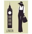 Woman in london vector