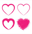 Set of hand drawn grunge hearts vector
