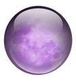 A round purple ball vector