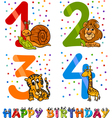 Birthday cartoon design for boy vector