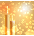 Christmas background with candles vector