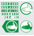 Palm sign vector