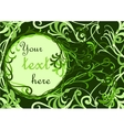 Green floral background with place for your text vector